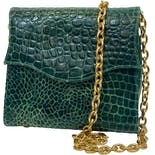 Green Alligator Chain Bag by Jill Stuart