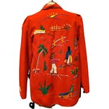 another view of Red Mexican Embroidered Tourist Jacket by Mike's Mgf.