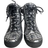 another view of Snakeskin Wedge Sneakers by Giuseppe Zanotti