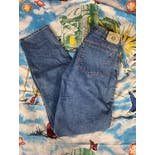 another view of 90's Men's Loose Fit Blue Denim Jeans by Arizona
