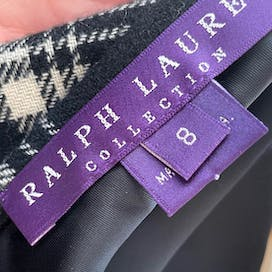 90's Black and White Tartan Maxi Skirt by Ralph Lauren Purple Label