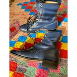 another view of Navy Blue Justin Lace Up Roper Boots 6.5 7 by Justin Boots