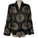 60's Silky Medallion Jacket by Vintage Designer