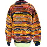 another view of 80's Total Dad Sweater Coogi Knit Rainbow Sweater by Coogi