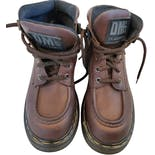 another view of 90's Brown Platform Grunge Boots by Dr. Martens
