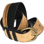 90's Black and Caramel Wide Suede Belt by Ellen Tracy