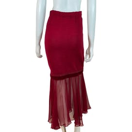Wine Knit Skirt by Lianne Barnes