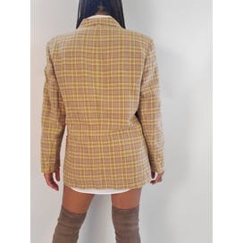 80's Plaid Linen Blazer by Liz Claiborne