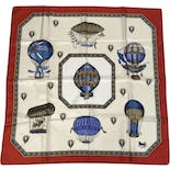 Hot Air Balloon Novelty Printed Scarf by Celine
