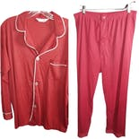 70's Men's Satin Nylon Pajama Set by Jcpenny