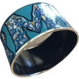 another view of Hermes Enamel Wide Bangle Bracelet by Hermes