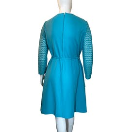 Aqua Princess Seamed Part Dress