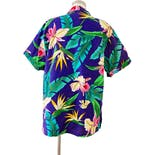 another view of 80's Purple Hawaiian Short Sleeve Button Down by Angelica