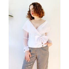 90's Sheer White Blouse by Positively Ellyn
