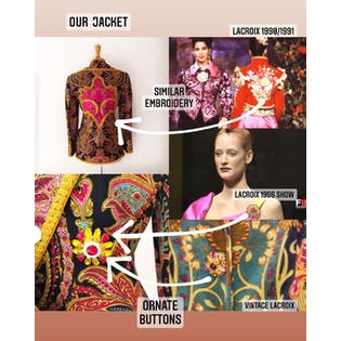 80's Embellished and Embroidered Bright Paisley Jacket by Christian Lacroix