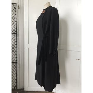 30's Wool and Velvet Coat by I. Magin