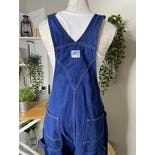 another view of Denim Green Zipper Overalls by Liberty