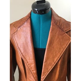 70's Leather Riding Jacket by Rome