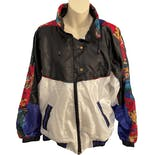 80's Floral Print Track Jacket by Center Aisle Sport