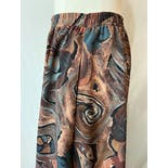 another view of 80's Abstract Painterly Art Print Midi Skirt by Pierre Lamonte