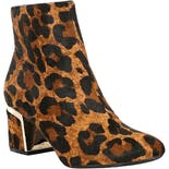Leopard Print Calf Hair Ankle Boots by Dkny