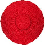 another view of Chunky Knit Bright Red Beret