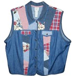 Denim Patchwork Vest by Koret