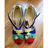 another view of 30's Insane Colorblock Peep Toe Heels