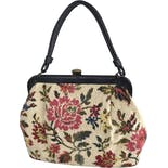60's Floral Needlepoint Tapestry Purse