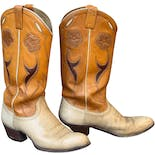 70's Hand Tooled Western Cowboy Boots by Ralph Lauren
