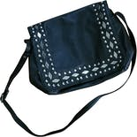 80's Black and Silver Studded Shoulder Bag