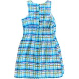 another view of 90's Colorful Textured Plaid Dress by Rampage