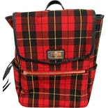 2000's Black & Red Plaid Mini Backpack.