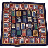 Silk Doors And Windows Scarf by Longchamp