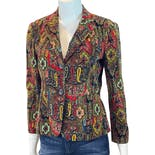 Colorful Corduroy Paisley Blazer by Dkny New York