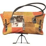 Suede Patchwork Bag by Johnny Farah