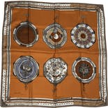 another view of Italian Silk Astrology Scarf by Calvin Klein
