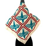 another view of Mid Century Geometric Bird Scarf
