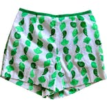 60's Green Shell Print High Waist Shorts by Seawaves
