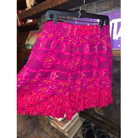 70's Pink and Purple Geometric Print Shirt and Shorts Set