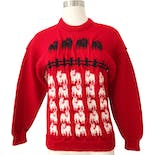80's Princess Diana Inspired Wool Sheep Sweater by Kapai Crafts Made In New Zealand