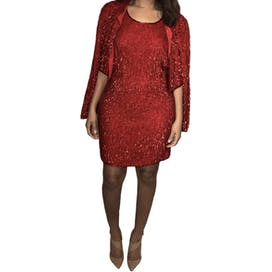 Red Sequins Scala Dress
