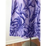 another view of 80's Purple Hawaiian Muumuu Dress