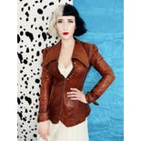 another view of 60's/70's Handmade Leather Pointed Collar Jacket by North Beach Leather