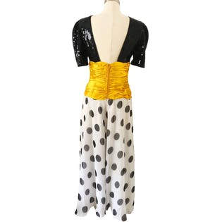 80's Polka Dot + Sequin Jumpsuit by Lillie Rubin