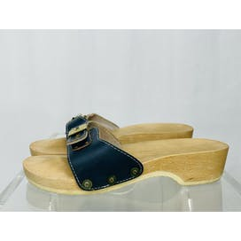 70's Deadstock Wooden Sandals by Dr Scholls