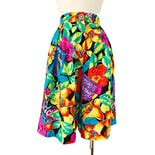80's Tropical Print High Waist Shorts by Carol Anderson Collection