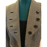 another view of 40's Short Waisted Checkered Blazer by Monarch