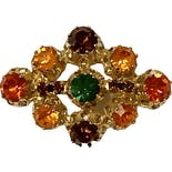 50's Austrian Multicolored Rhinestone Pin