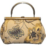 60's Floral Fabric Bag by Ronay
